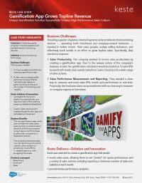 Gamification App Boosts Topline Revenue