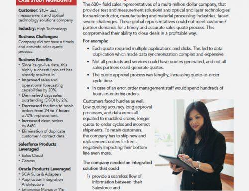 Salesforce Sales Cloud / Oracle Integration Transforms Sales