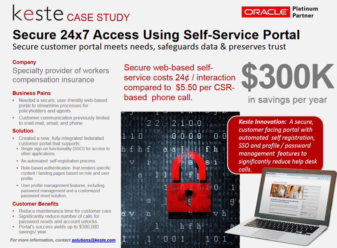 Secure 24×7 Access Provided via Self Service Portal