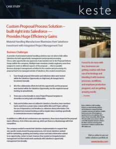 Custom Proposal Process Solution – Built Right Into Salesforce – Provides Huge Efficiency Gains