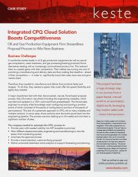 Integrated CPQ Cloud Solution Boosts Competitiveness