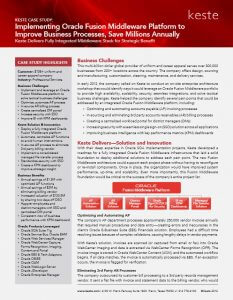 Improve Business Processes and Save Millions with Oracle Middleware