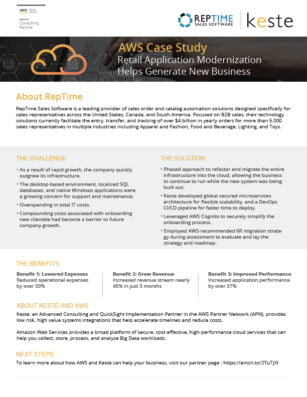AWS Case Study: Retail Application Modernization Helps Generate New
